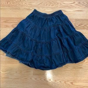 Hanna Andersson Denim Skirt Size 120 (US 6-7)